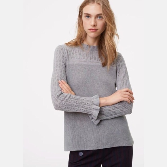 Ann Taylor LOFT Pointelle Sleeve Sweater Pullover Various Colors and Sizes NWT